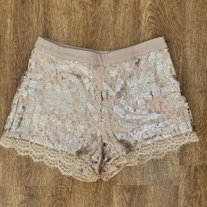 Sequin and lace shorts purchased from LF